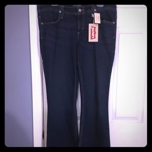 Levi's signature ultra low flare jeans